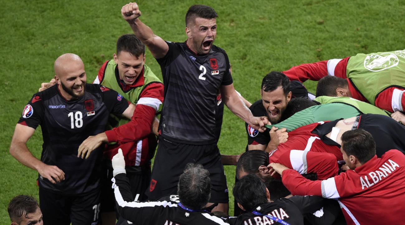 Albania beats Romania at Euro 2016