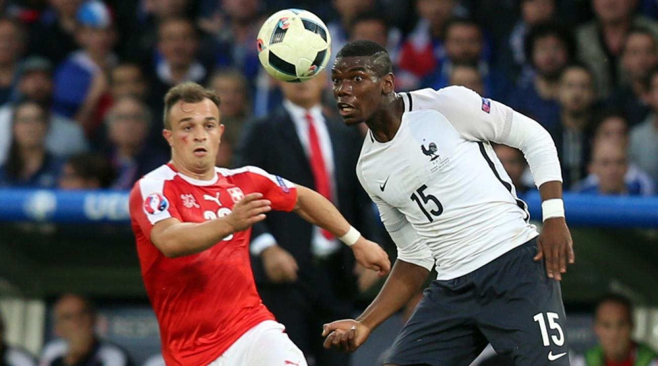 Paul Pogba and France won Euro 2016 Group A after a draw with Switzerland