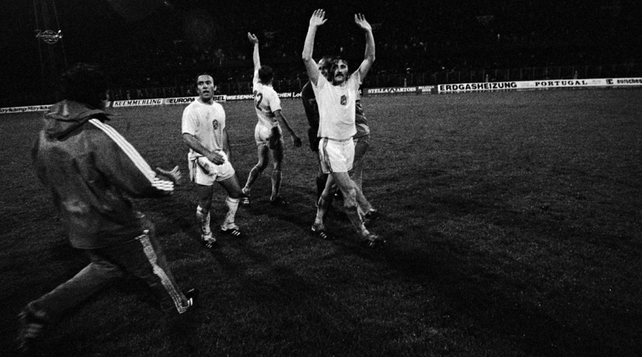 Antonin Panenka wins the 1976 European Championship for Czechoslovakia