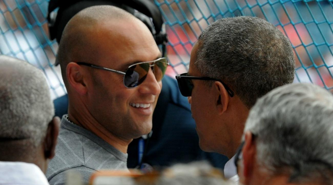 Derek Jeter interviewed Barack Obama
