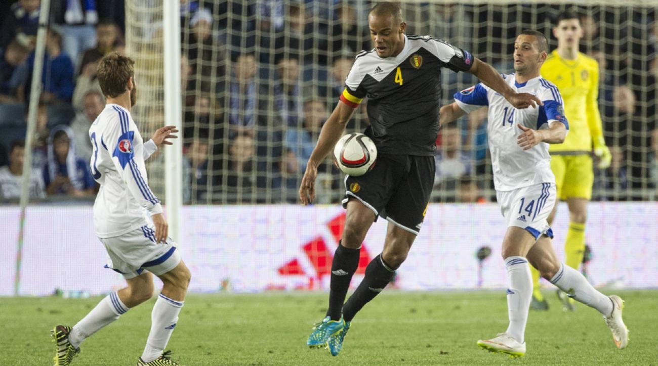Belgium and Manchester City center back Vincent Kompany