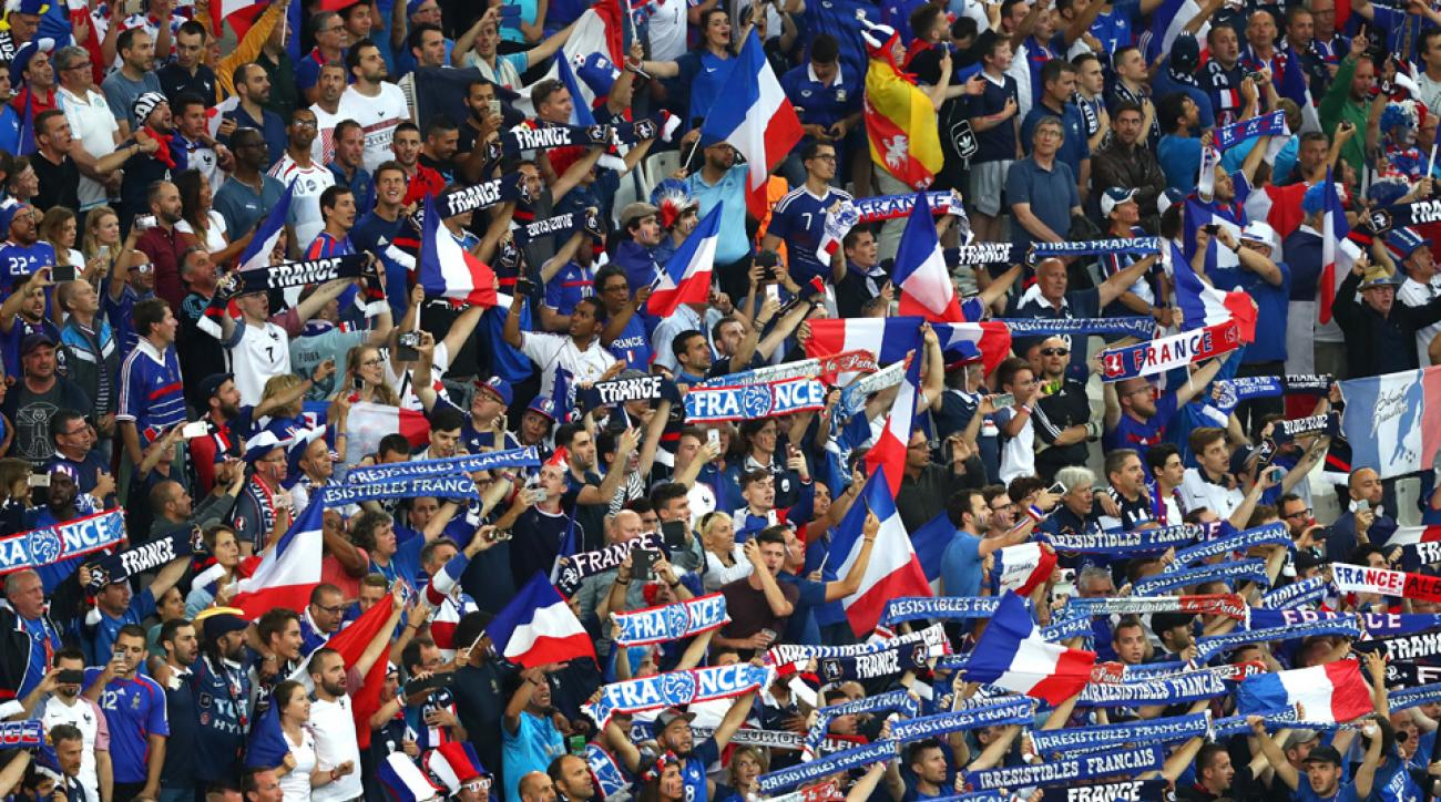 France fans at Euro 2016