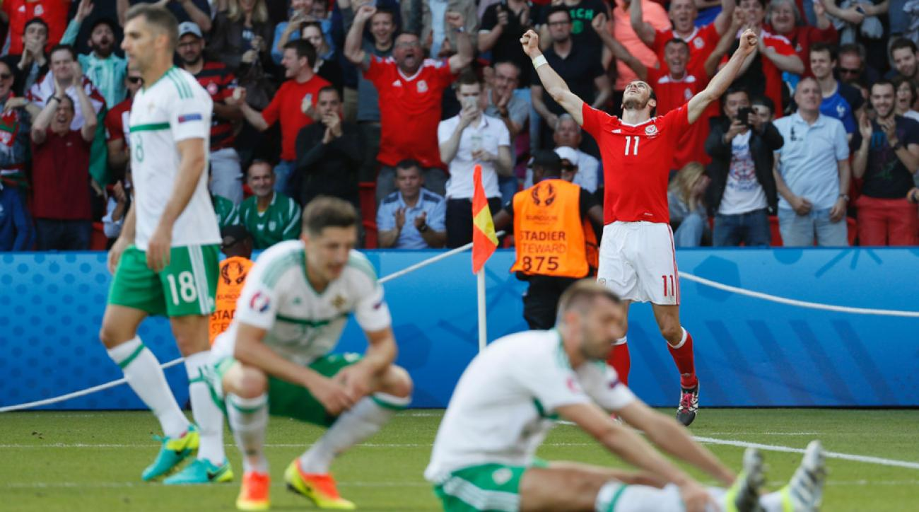 Gareth Bale's cross results in an own goal to give Wales an edge over Northern Ireland at Euro 2016