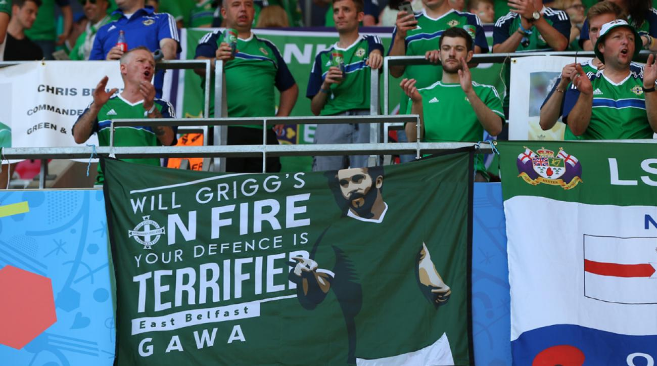 Eric Cantona sings Will Grigg's on fire