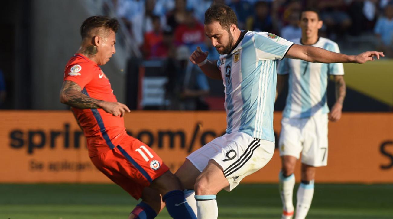 Follow Argentina vs. Chile in the Copa America final