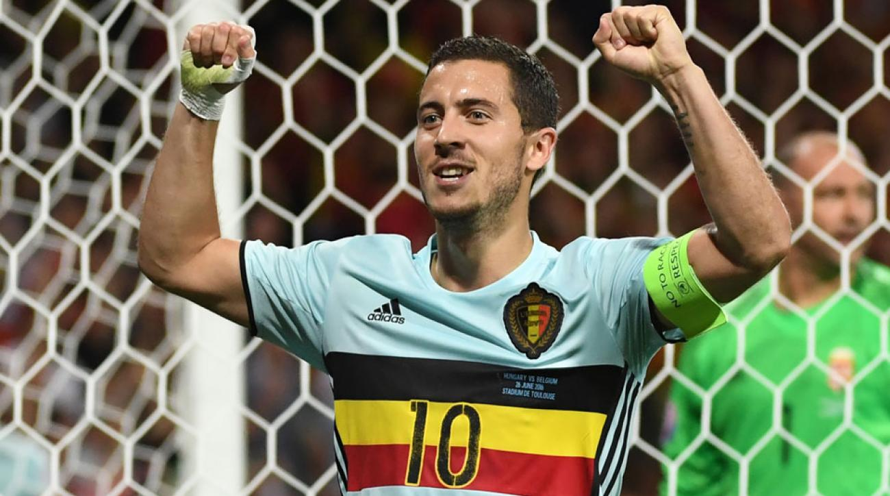 Eden Hazard leads Belgium by Hungary in the Euro 2016 round of 16