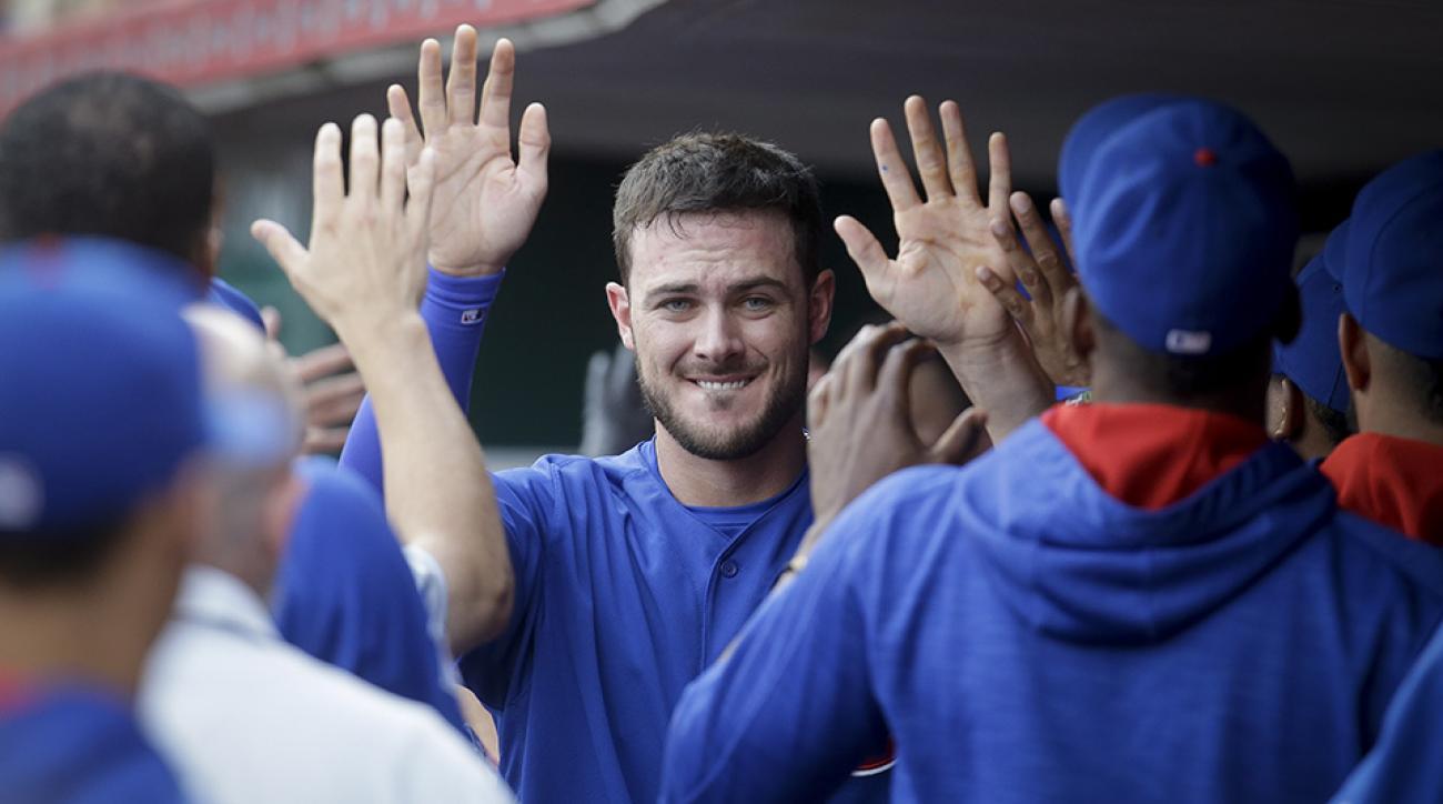 cubs kris bryant three home runs reds video