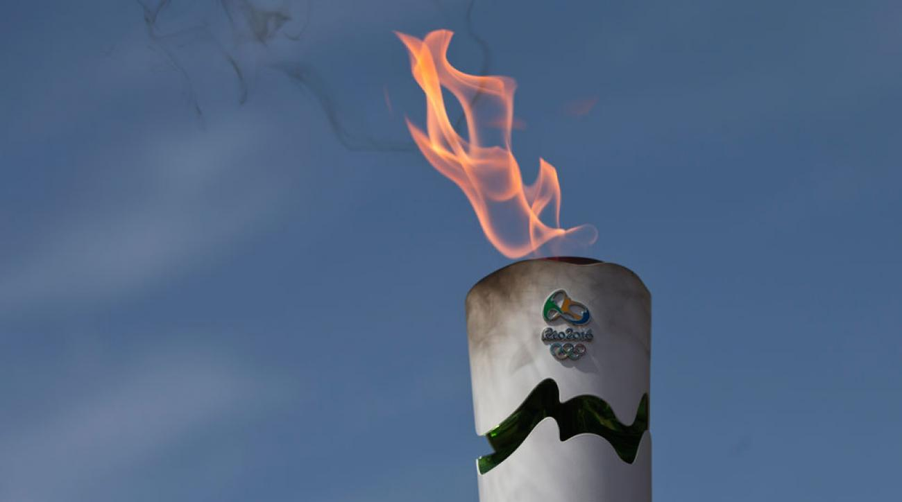 rio 2016 olympic torch water dare