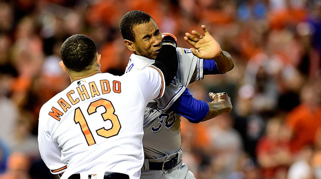 Yordano Ventura, Kansas City Royals; Manny Machado, Baltimore Orioles