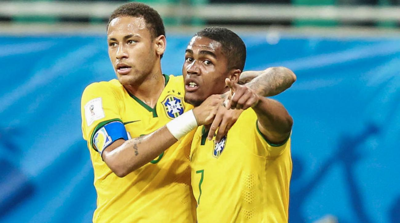 Neymar and Douglas Costa headline Brazil's Olympic roster