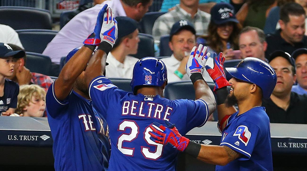 rangers adrian beltre touch head reaction video