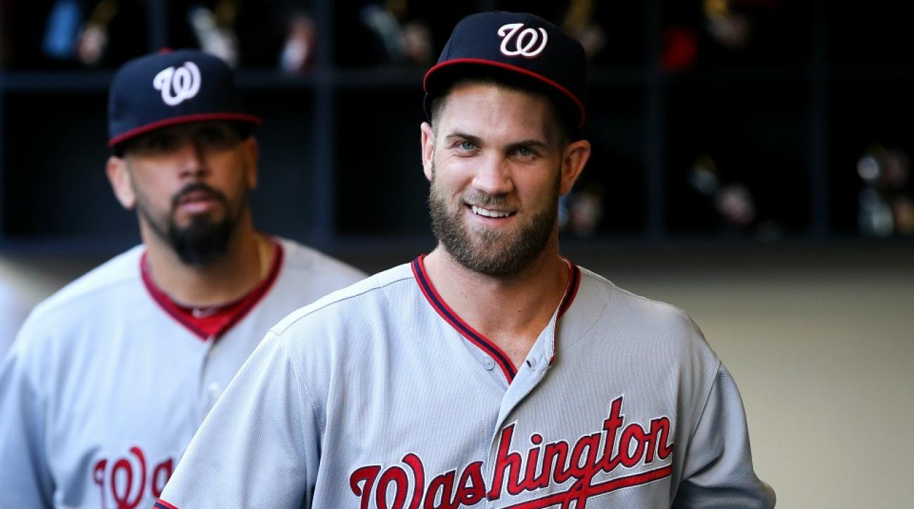 Washington Nationals' Bryce Harper plays baseball with kids on Facebook live