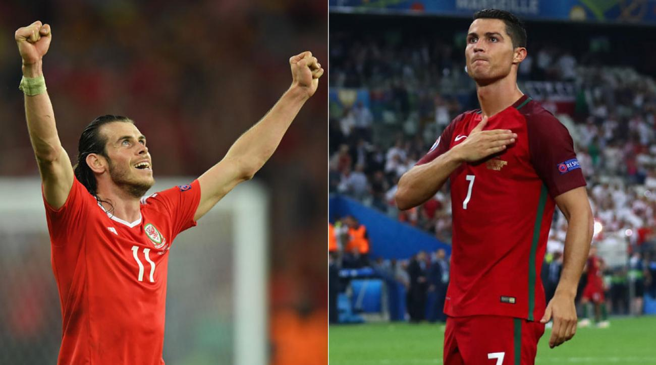 Gareth Bale and Cristiano Ronaldo will clash in the Euro 2016 semifinals
