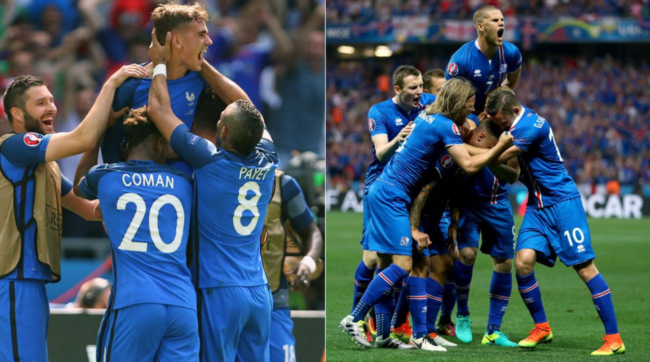 Follow France vs. Iceland in Euro 2016 quarterfinals