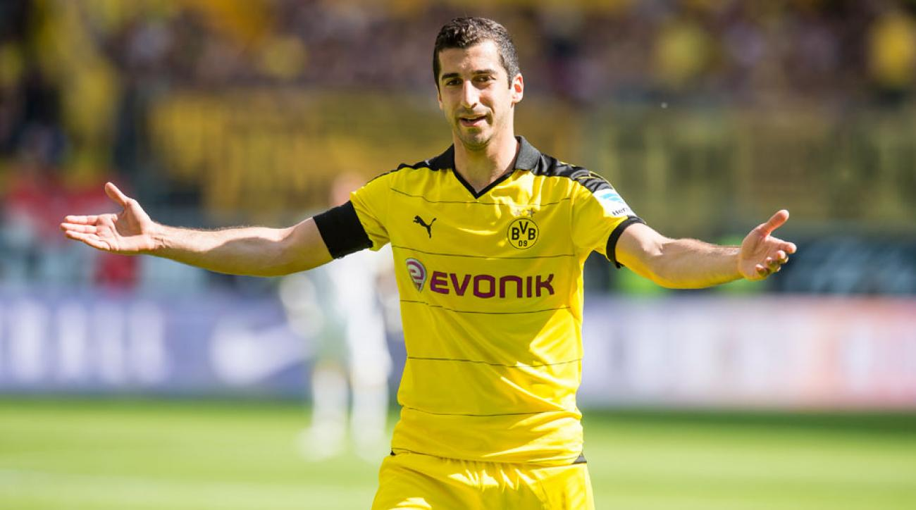 Henrikh Mkhitaryan is set to join Manchester United from Dortmund