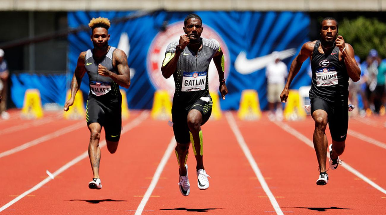 justin gatlin us olympic trials rio 100