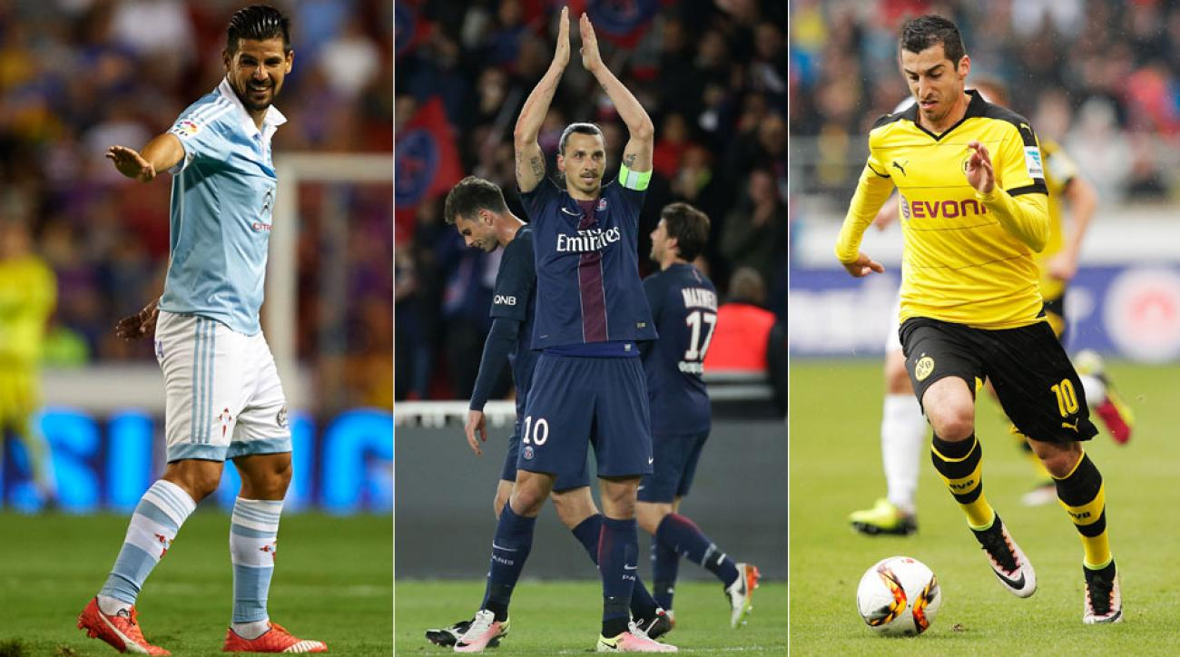 Nolito, Zlatan Ibrahimovic and Henrikh Mkhitaryan are on the move during the summer transfer window