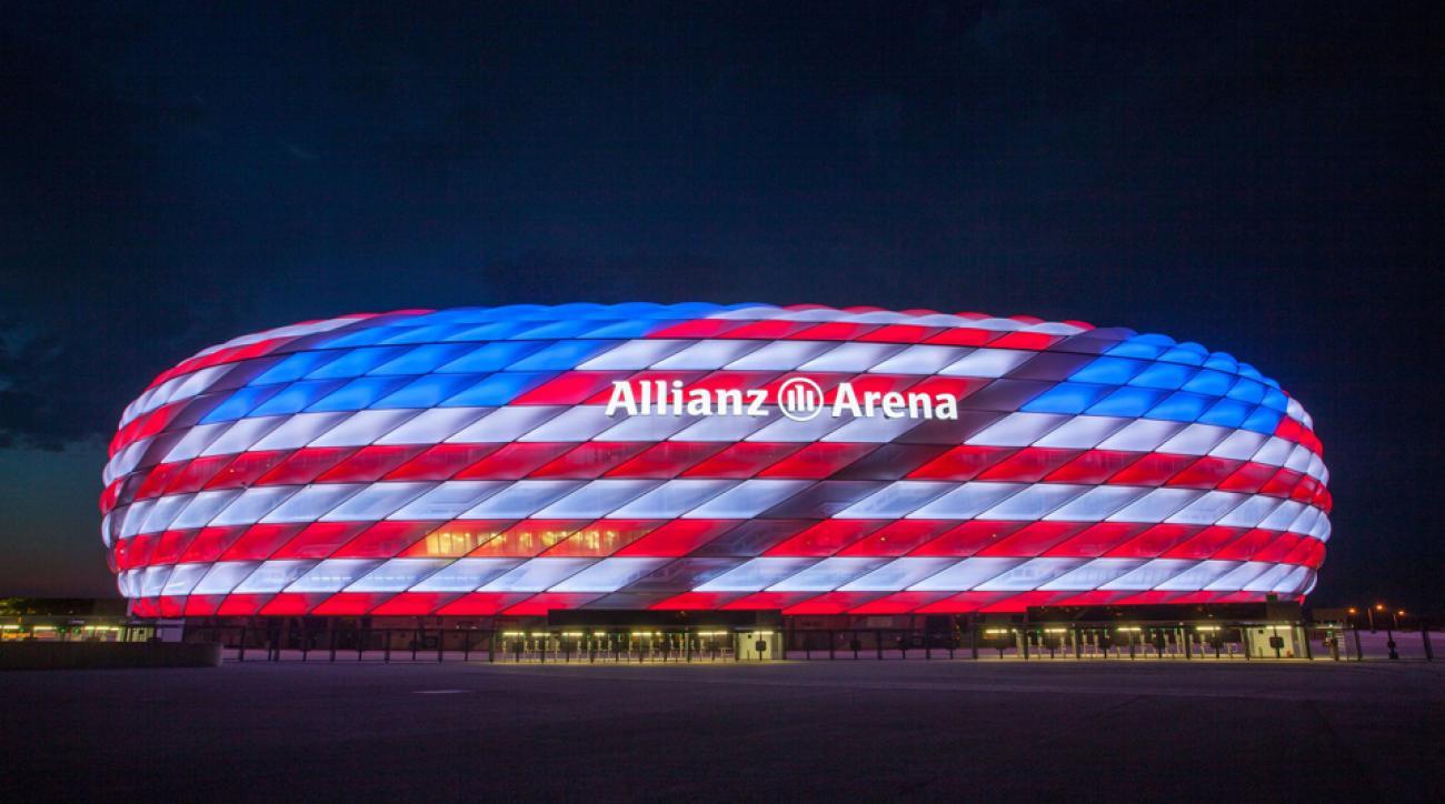 Bayern Munich Allianz Arena Red White Blue For July 4