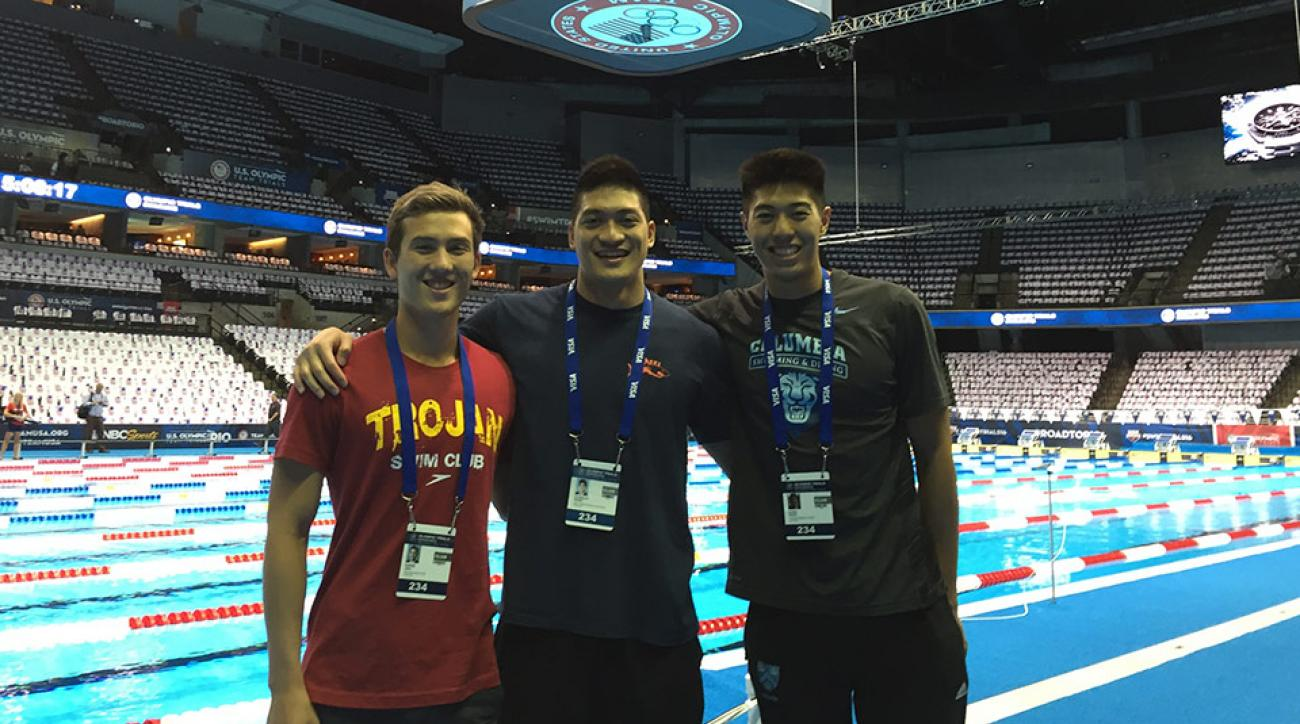 Alex Ngan, far right, at the CenturyLink Center in Omaha.