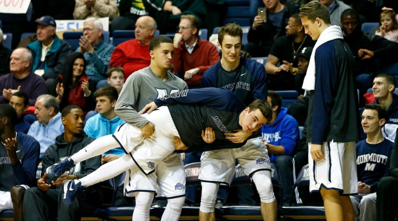 Monmouth basketball bench mob gets a Jersey Shore sand sculpture