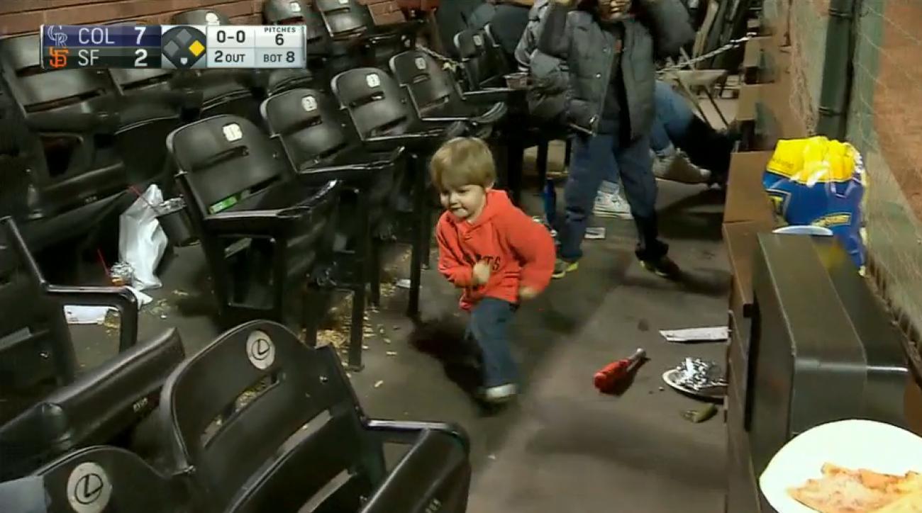 san francisco giants fans kids imaginary baseball video