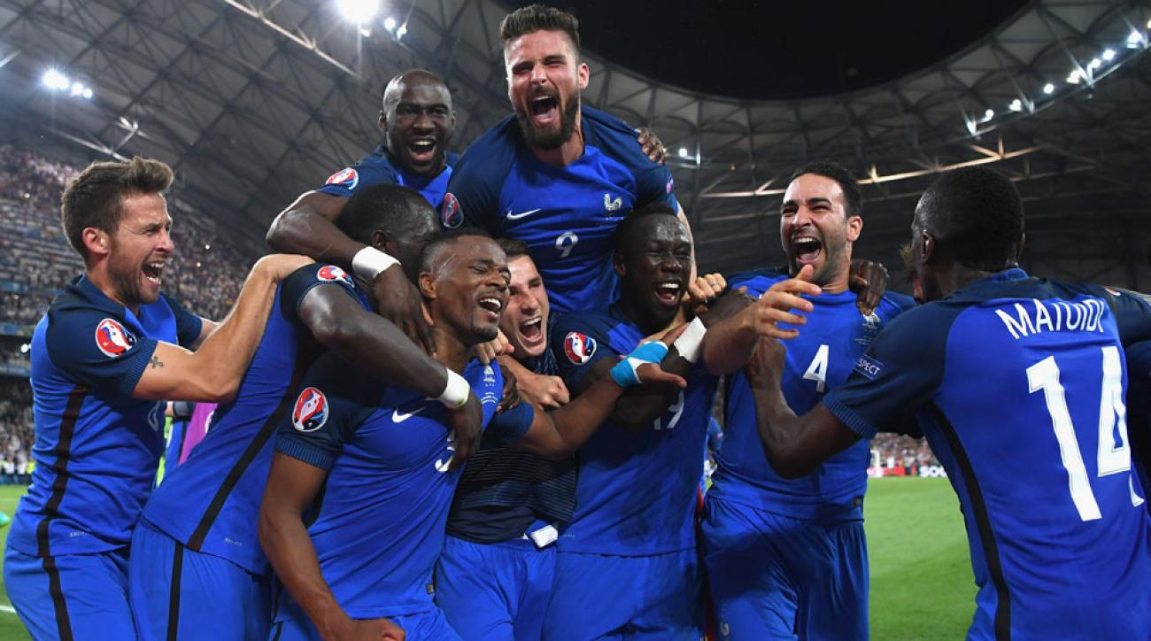 France celebrates its Euro 2016 semifinal win over Germany