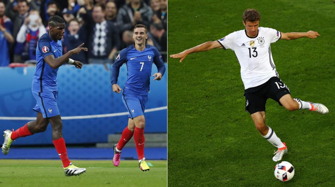 Follow France vs. Germany in the Euro 2016 semifinals