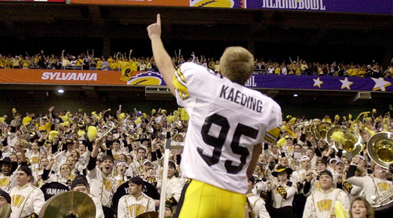 Just like during his time with the Hawkeyes, Kaeding returned to Iowa as a hero.