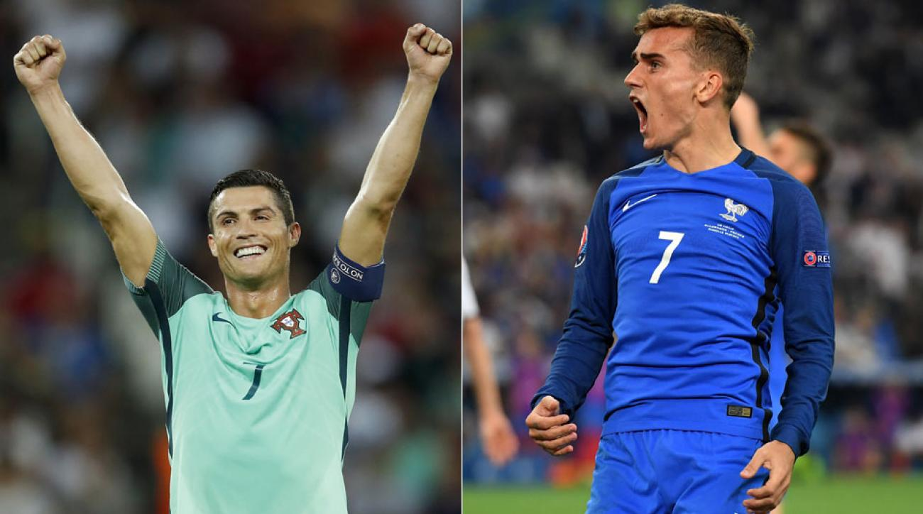 Cristiano Ronaldo and Antoine Griezmann will go head to head in the Euro 2016 final