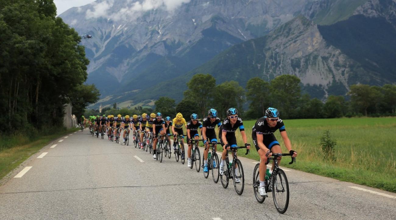 Tour De France fans play chess on a mountaintop