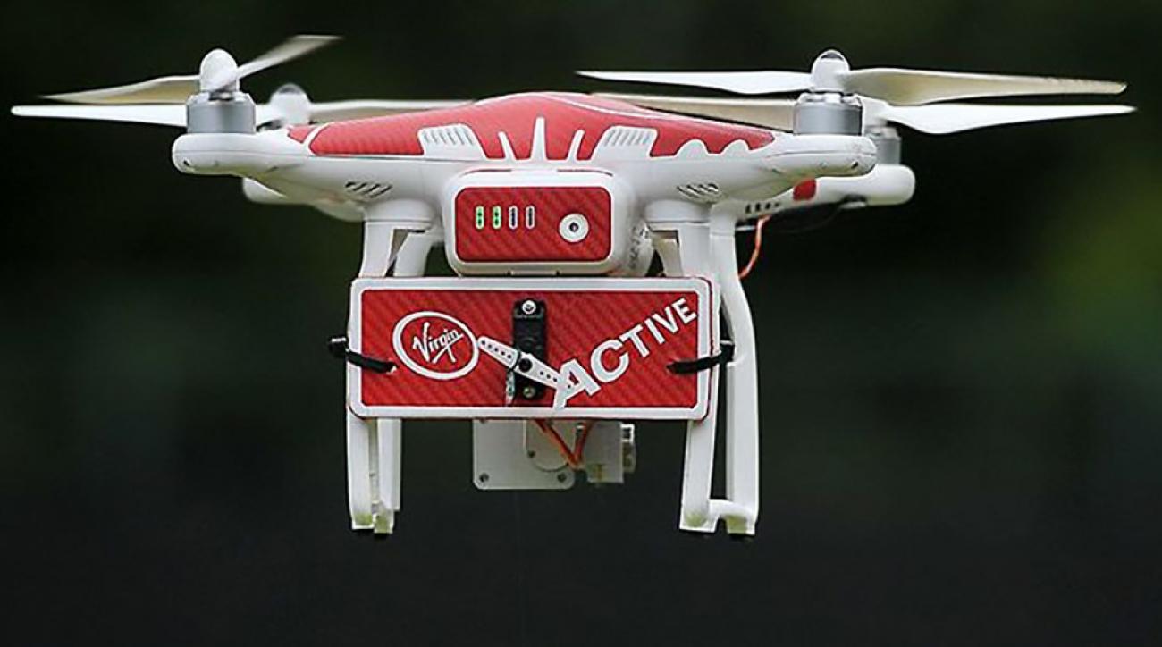 Virgin Active tennis drone