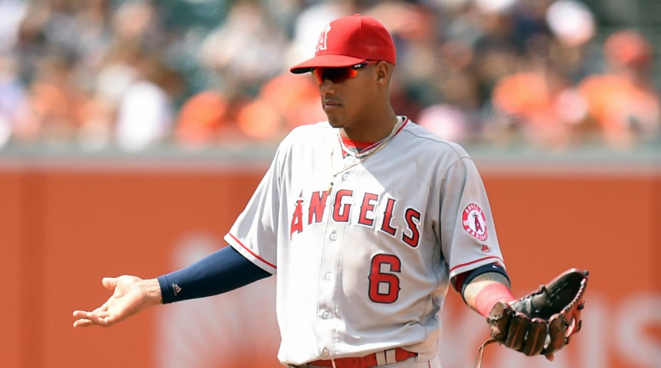 angels yunel escobar ejected drawing dirt