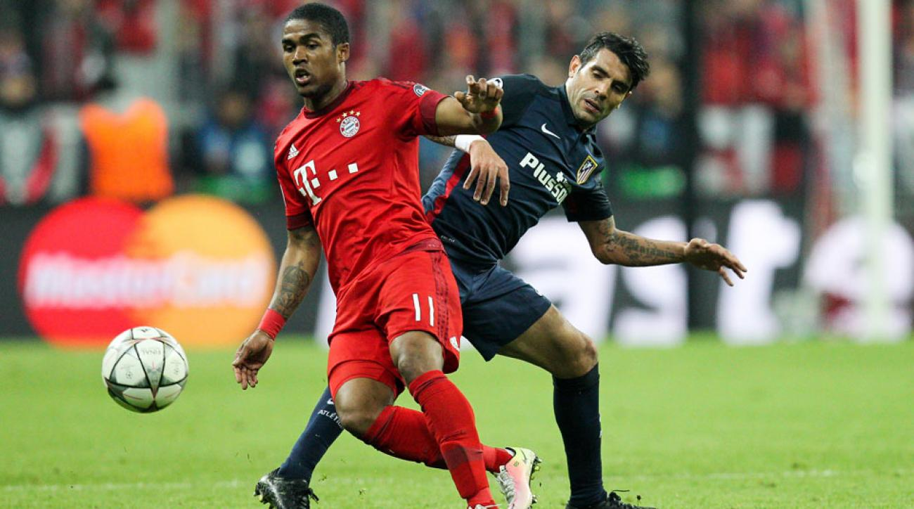 Brazil's Douglas Costa will miss the Olympics with a thigh injury