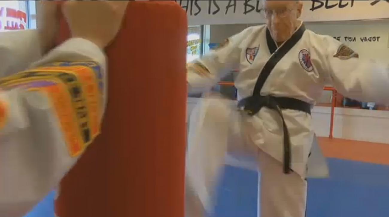 harlan van over 94 year old sixth degree taekwondo black belt