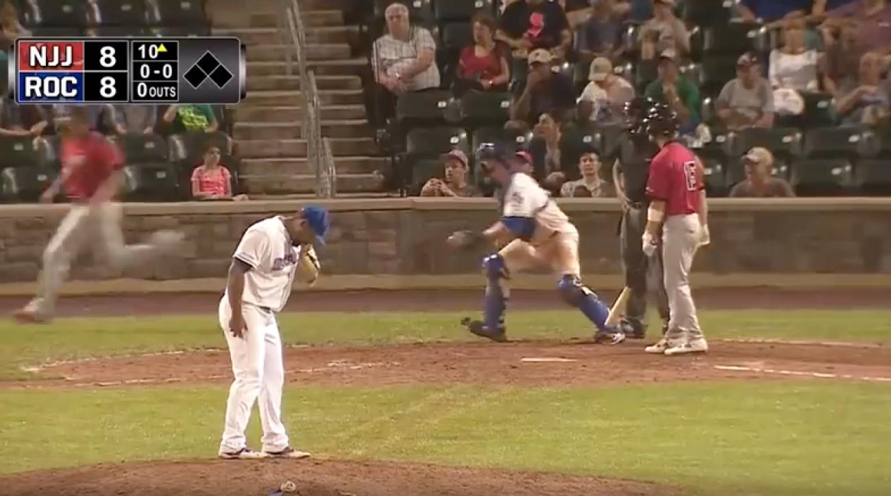can am league jackals boulders baseball brawl video