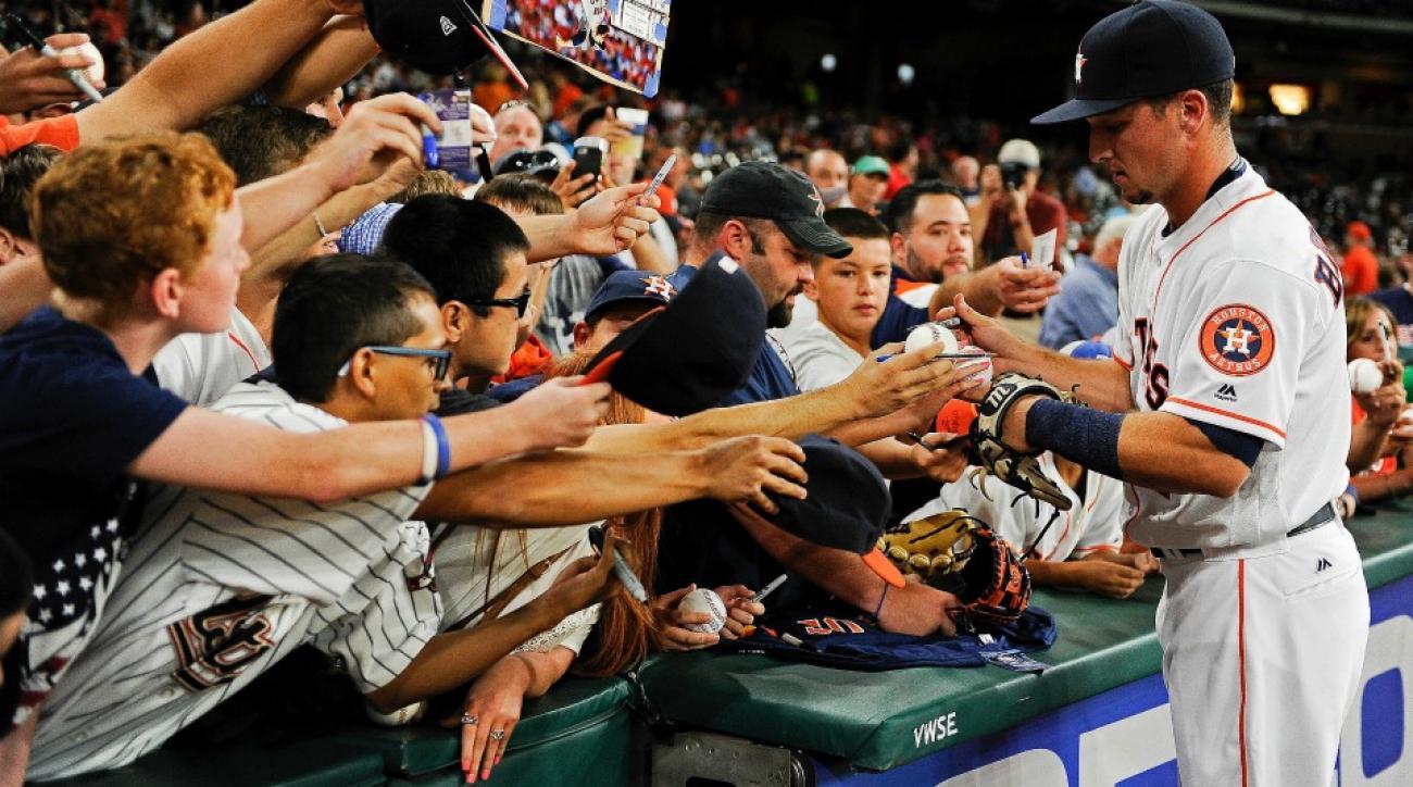 Houston Astros'  Alex Bregman gets standing ovation for first at bat