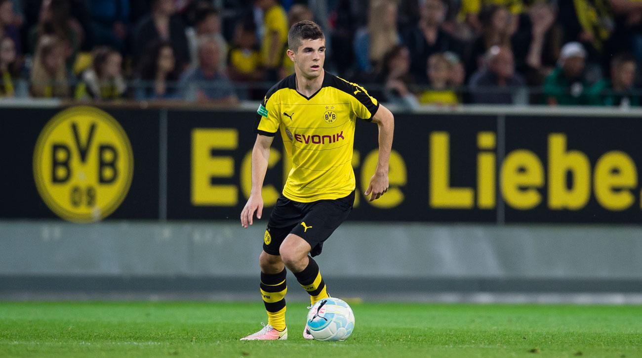 Christian Pulisic scores for Borussia Dortmund vs. Manchester City