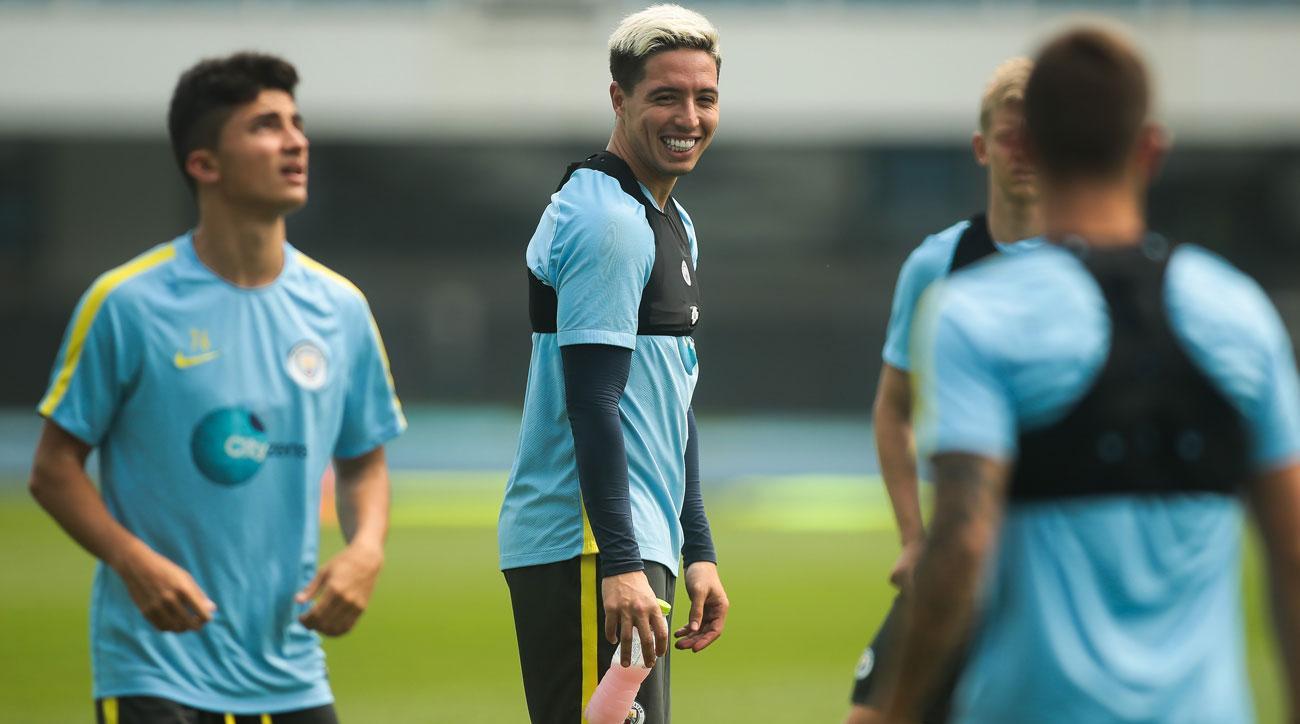 Samir Nasri hasn't yet featured for Manchester City in preseason