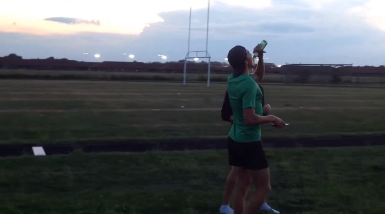 New Beer Mile record video