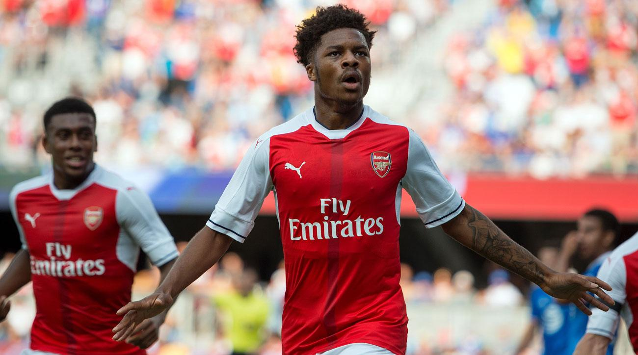 Chuba Akpom scores the winning goal in the MLS All-Star Game