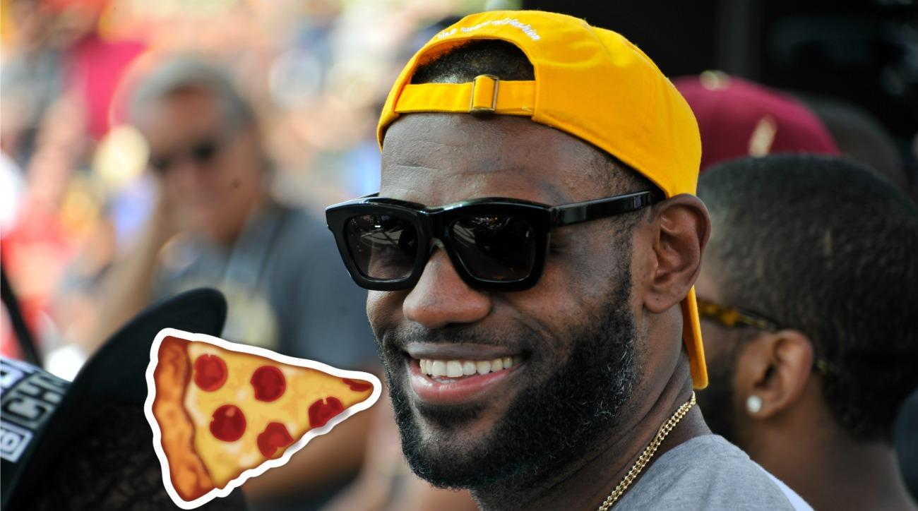 LeBron James shares his pizza order on facebook