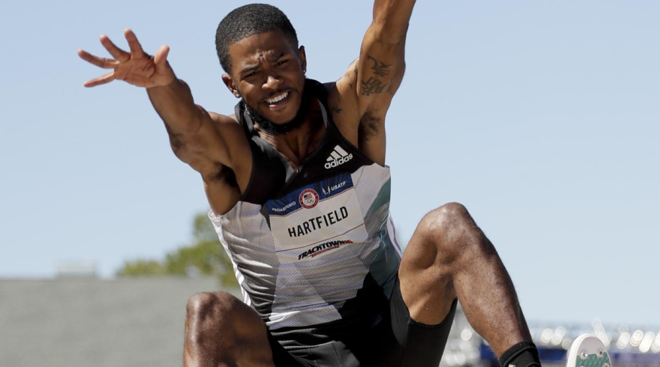 michael hartfield olympics long jump marquise dendy injury