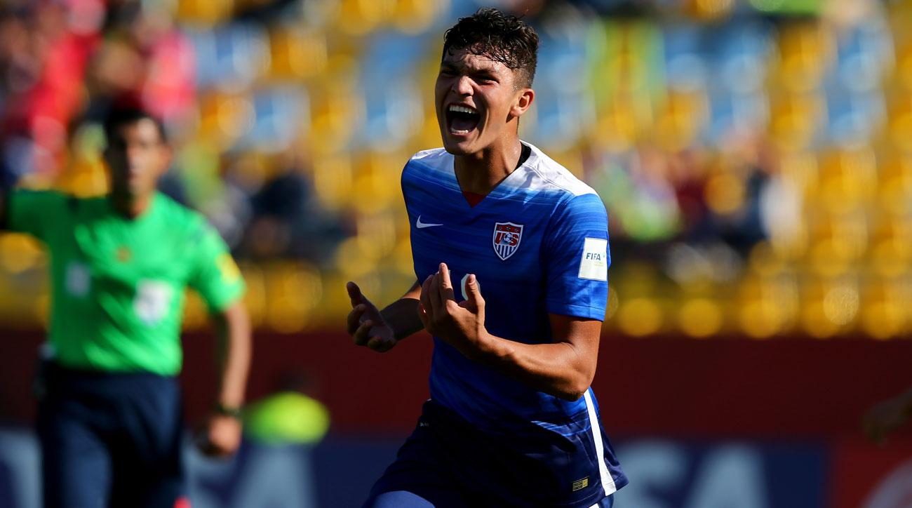 Brandon Vazquez scores a winner for the USA U-19s against Spain