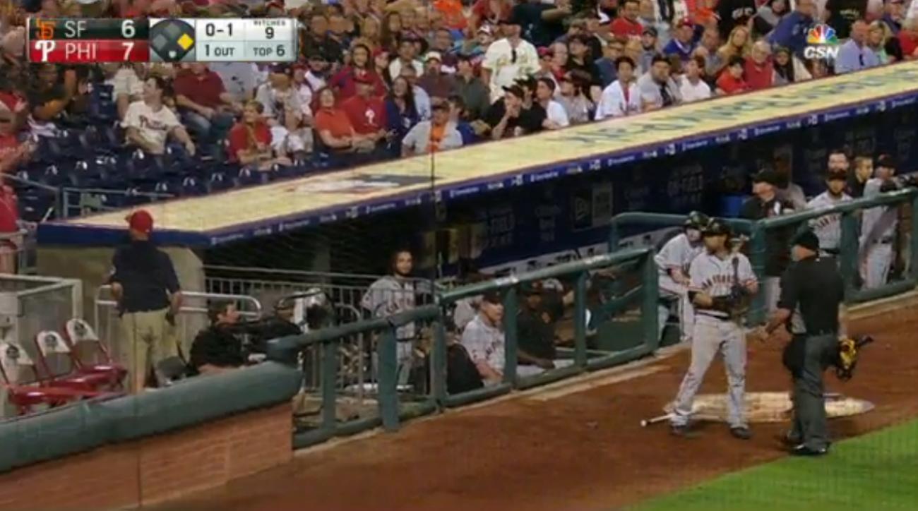 umpire ejects fan
