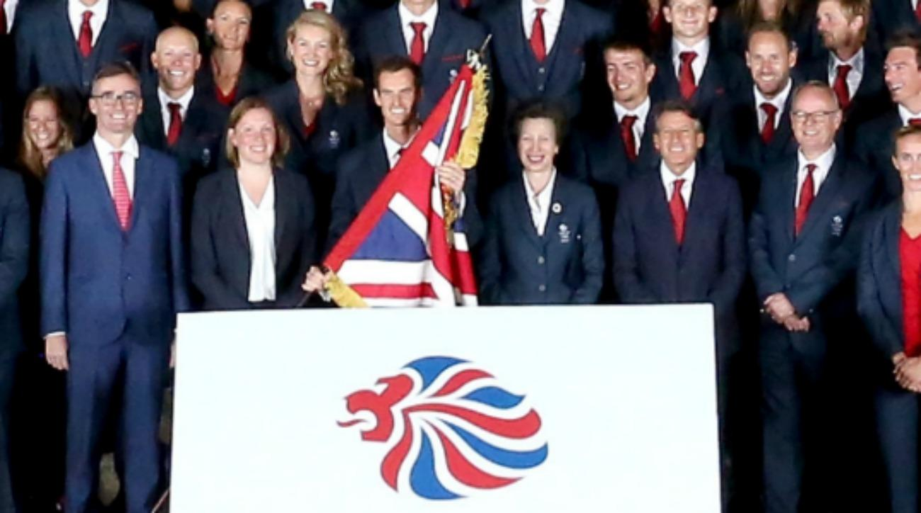 Andy Murray almost hit Princess Anne with a flag
