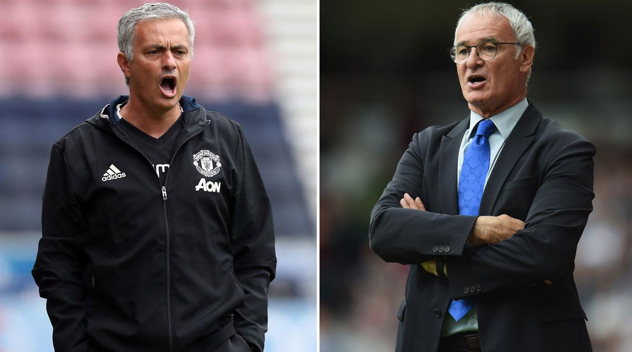 Manchester United manager Jose Mourinho vs. Leicester City manager Claudio Ranieri