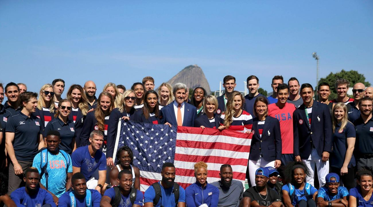 Olympics opening ceremony: Team USA takes photos
