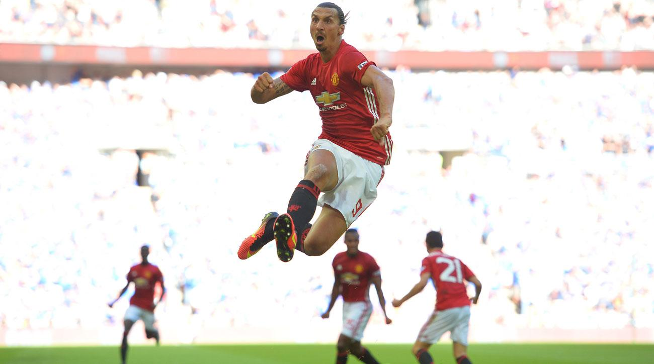 Zlatan Ibrahimovic's late goal wins the Community Shield for Manchester United