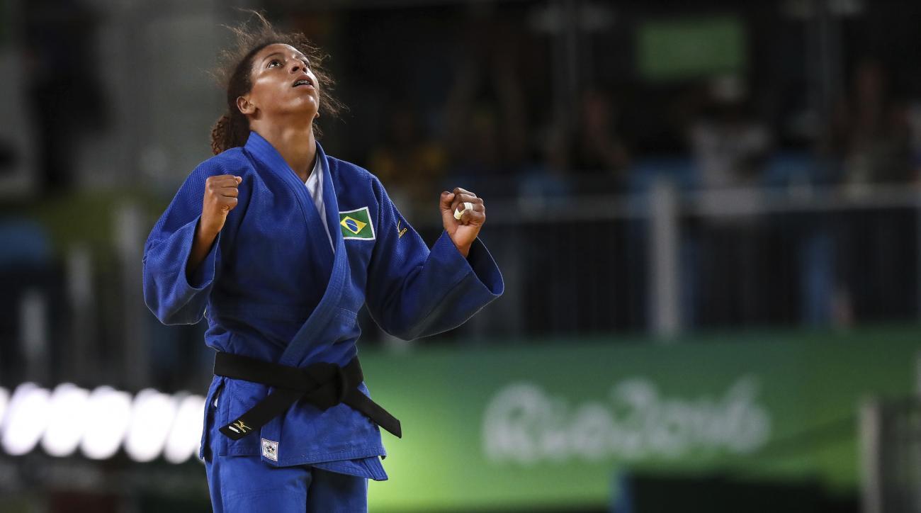 brazil gold medal judo rafaela silva rio 2016