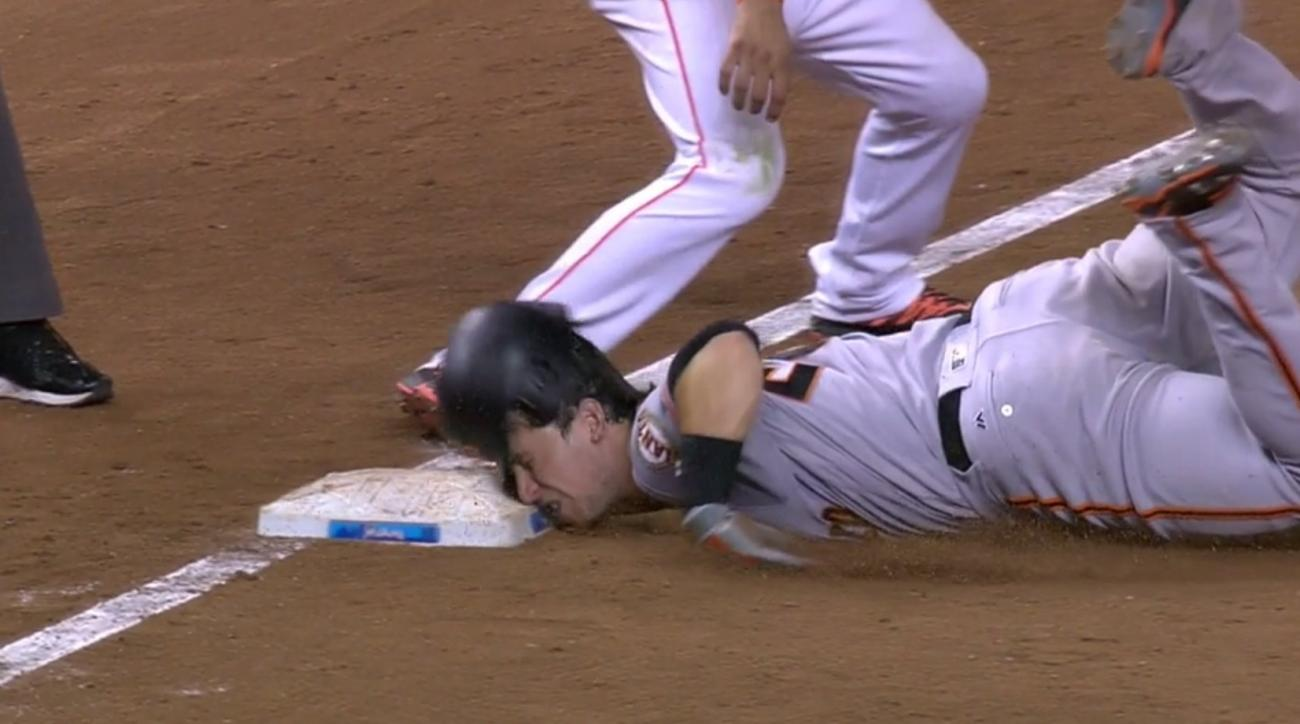 buster posey faceplant slide